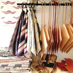 Spring Finn & Co. leather goods + Maison Spring fabrics = a good place to shop.
