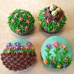 Easter cupcake ideas with tips on how to DYI.