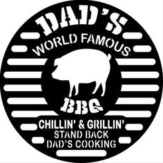 Dad's World Famous BBQ Circle Plasma Laser DXF Cut File