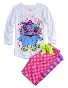 Monster Front Back Pajama Set | Girls Pajamas & Robes Clothes | Shop Justice