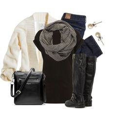"""Houndstooth"" by qtpiekelso on Polyvore"