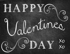 5 Valentine Chalkboard Printables