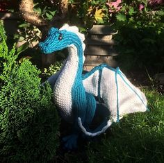 """Inspired by her character, Peri Reed, who also knits, """"The Drafter"""" author Kim Harrison created a dragon to share."""