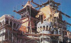 Sleeping Beauty castle under construction