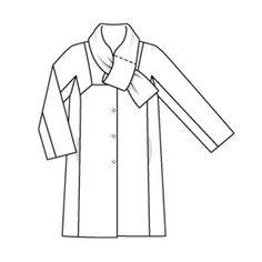 Пальто - выкройка № 115 из журнала 9/2009 Burda – выкройки пальто на Burdastyle.ru http://burdastyle.ru/vikroyki/palto/palto-burda-2009-9-115/