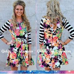 Floral dress from Giddy Up Glamour Use coupon code GUGREPCDOW for 10% off your online purchase!  gugonline.com