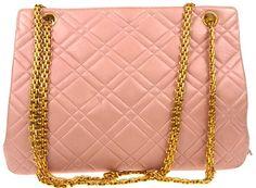 Chanel Quilted Shoulder Bag Pink Leather