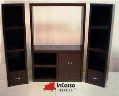 Centro de Entretenimiento Minimalista Mod. JUNIOR Incluye: 1 mueble central para pantalla y 2 torres laterales. Medidas: Largo 2mts, Alto 1.80m, Fondo 40cm --DISPONIBLE EN CUALQUIER COLOR. Precio: $4,990
