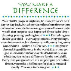 Love Notes for Special Parents Gallery: You Make a Difference