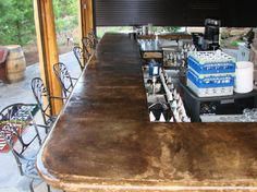 Concrete bar top