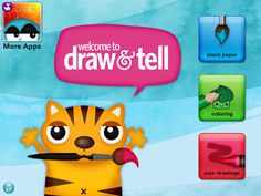 Draw and Tell is the best drawing app for kids of all ages. Draw or color, add stickers, then talk about your drawing. Move the stickers to create an animation! Your memories and voice recording will be saved with your drawing.