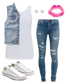 """""""#No name"""" by eemaj ❤ liked on Polyvore featuring Majestic, Abercrombie & Fitch, Yves Saint Laurent, Converse, Charlotte Russe and Topshop"""