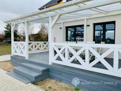 Balcony Railing Design, Front Porch Design, Patio Design, Pergola Patio, Backyard Patio, Backyard Landscaping, Outdoor Spaces, Outdoor Living, Indoor Garden