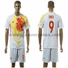Camisetas De Futbol Barata España 2016 Torres 9 Segunda Equipación