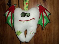 Boys Monster Tooth Fairy Pillow by MacAndRoniDesigns on Etsy, $30.00