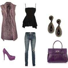 Black and purple clothes