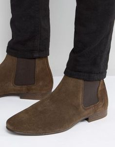 River Island Suede Chelsea Boots In Brown