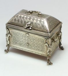 *Early 18th century silver casket. Unmarked, probably Spanish or Spanish Colonial. Circa 1740