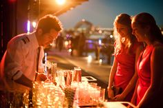 Petr Dvoracek mixing some tasty Penicillins Bar Hire, Bar Catering, Mobile Bar, Cabin Crew, Cool Bars, Bartender, Tasty, Concert, Concerts