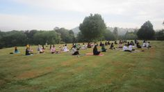 Pranayama at Sunrise! Chi Kri Summer Retreat! 4-6th July 2014, email info@chikri.com for more info! https://www.youtube.com/watch?v=Uvl2V_P_w_M  Yoga #Summer #Nature