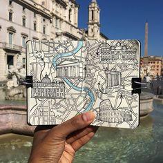 Rome moleskine map
