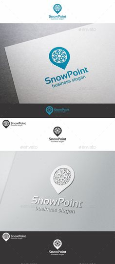 Snow Point Snowflake Logo — Vector EPS #pin #snowflake logo • Available here → https://graphicriver.net/item/snow-point-snowflake-logo/9938569?ref=pxcr