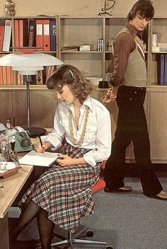 Retro Office 1970s...watching her back :-/