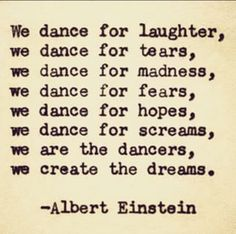 ALBERT EINSTEIN Hand Typed Quote Made with Vintage Typewriter Albert Einstein Quote dance moms dance moms dances, dance mom funnies Favorite Quotes, Best Quotes, Life Quotes, Happy Quotes, Passion Quotes, Family Quotes, Quotes Quotes, Ballet Quotes, Typed Quotes