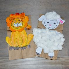 In like a Lion, Out Like a Lamb! MARCH Lion Kids Crafts, Bible Crafts For Kids, Animal Crafts For Kids, Vbs Crafts, Fun Activities For Kids, Puppet Crafts, Spring Activities, Lamb Book, Lamb Craft