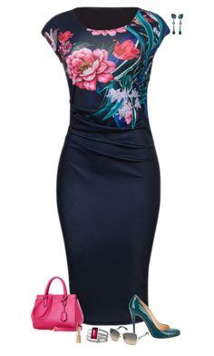 Bold flowers by julietajj on Polyvore featuring polyvore fashion style WithChic Christian Louboutin Baccarat Swarovski Dolce&Gabbana clothing