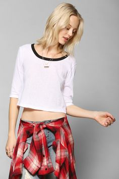 Truly Madly Deeply Scoopneck Cropped Top