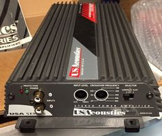 US Acoustics USA 2100 2 Channel Class AB Amplifier. Made in USA