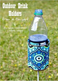 How To DIY Outdoor Drink Holder Tutorial - 110 DIY Backyard Ideas to Try Out This Spring & Summer - DIY & Crafts