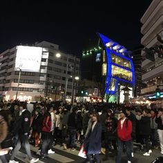 Harajuku  Sunday night but too crowded to move