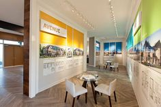 Arcadia Sales Centre | Printed wall graphics in 3D and flat printed walls.