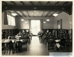 Children's Reading Room of the Alamitos Branch, Long Beach Public Library, CA, 1920. For information about copyright and ordering images from the LBPL Digital Archive, see http://www.lbpl.org/history.