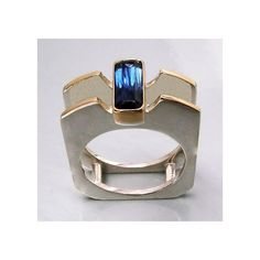 Iolite 18k Yellow Gold and Silver Ring by Dimalta Gioielli, aboutjewelry via ETSY  $ 200.00