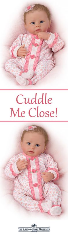 Feel her gently breathe and hear her coo! The Katie Baby Doll by Master Doll Artist Linda Murray responds to your loving touch!