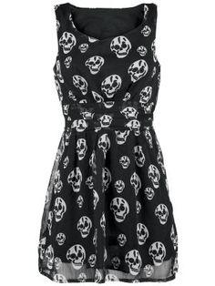 Härlig klänning med dödskalle-design!