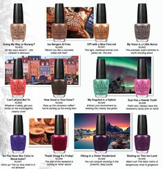 Sandra Bauknecht: Inspired by the great northern lights in Finland, deep blue fjords in Norway, and colorful houses in Copenhagen, Nordic Collection by OPI brings the diverse Opi Nail Polish, Opi Nails, Opi Collections, Opi Nail Colors, Nail Candy, Cool Nail Designs, Makeup, Face, Inspiration