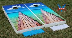 Our Beach Dock #cornhole design. #beach #summer #victorytailgate