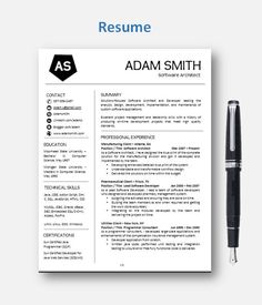 Professional Resume Template  Cvtemplate  Add On Page  Cover