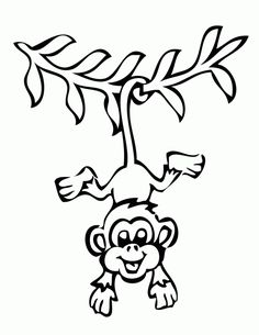 Cute Animal Coloring Pages Printables Cute Monkeys Coloring