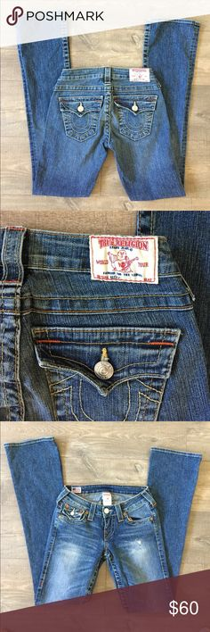 True Religion Becky jeans Gently worn , inseam is 33 inches , please make a reasonable offer True Religion Jeans