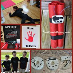 East Coast Mommy: The Ultimate DIY Spy PartyYou can find Spy party and more on our website.East Coast Mommy: The Ultimate DIY Spy Party Geheimagenten Party, Spy Kids Party, Spy Birthday Parties, Craft Party, Birthday Fun, Party Time, Party Ideas, Secret Agent Activities For Kids, Spy Games For Kids