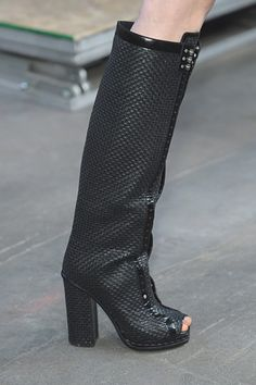 Proenza Schouler omg open toed boots!!!  have to laugh