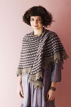 Pop Spots pattern by Juju Vail — worked in three colors of sock yarn