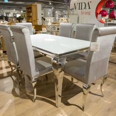 louis-rectangular-white-glass-dining-table-four-chairs-74127-p.jpg (900×900)