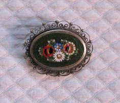 Victorian Micro Mosaic Brooch by vintagous on Etsy https://www.etsy.com/listing/208706568/victorian-micro-mosaic-brooch