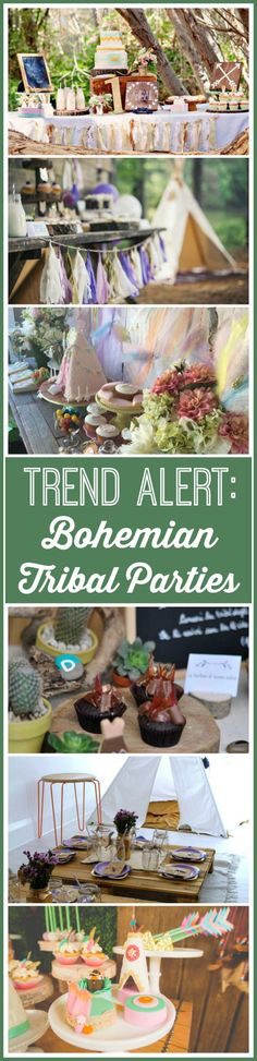 New trend on CatchMyParty.com: bohemian tribal parties with Native American touches! Check out this roundup of girl birthday parties!